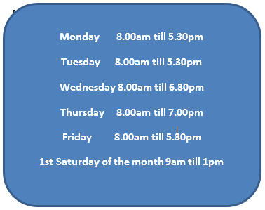 Brucegate Dental Practice Opening Hours